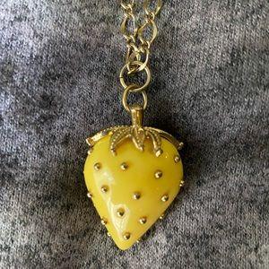"""Jewelry - Yellow strawberry 12"""" necklace"""